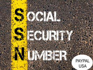 Social Security Number (SSN) Paypal USA